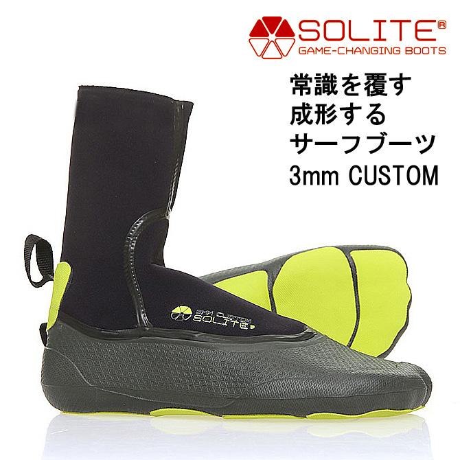 ソライト 3mm熱成型カスタムサーフブーツ / Solite Surf Boots 3mm Custom【返品・交換不可】