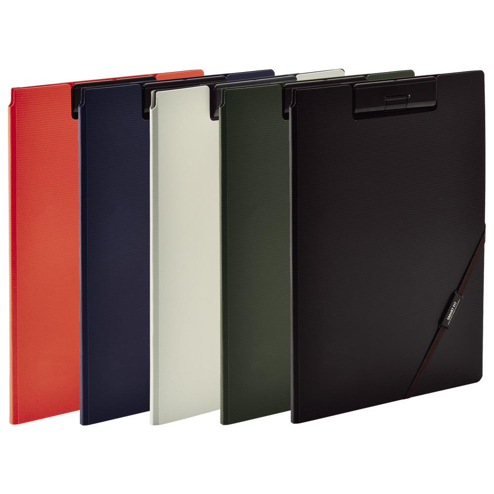マルチポケット 外側ポケットがついて 一時保管や書類の分類がしやすいクリップファイル SMART クリップファイル 本日の目玉 A4 人気商品 FIT