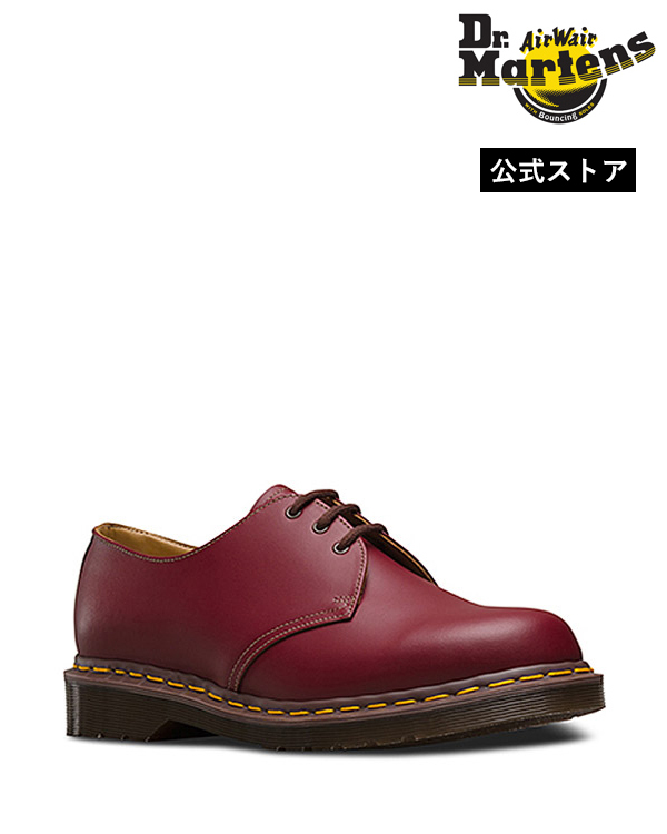 Dr.Martens Made in England Vintage 1461 3 Eye Shoe 12877601 Oxblood ドクターマーチン 1461 3ホール シューズ 英国製 イエローステッチ メンズ レディース