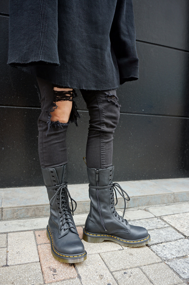 get new affordable price utterly stylish Dr.Martens doctor Martin 1B99 14EYE ZIP BOOT 11820008 BLACK 14 hall boots  long zip Lady's men