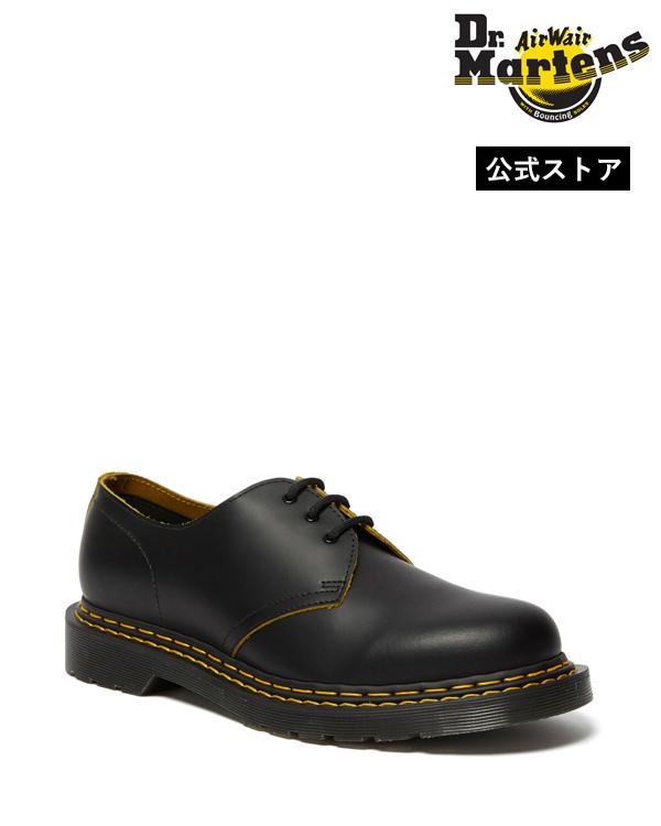 Dr.Martens 1461 Double Stitch 3 Eye Shoe 26101032 Black+YellowSmooth Slice ドクターマーチン 1461 ダブルステッチ 3ホール メンズ レディース