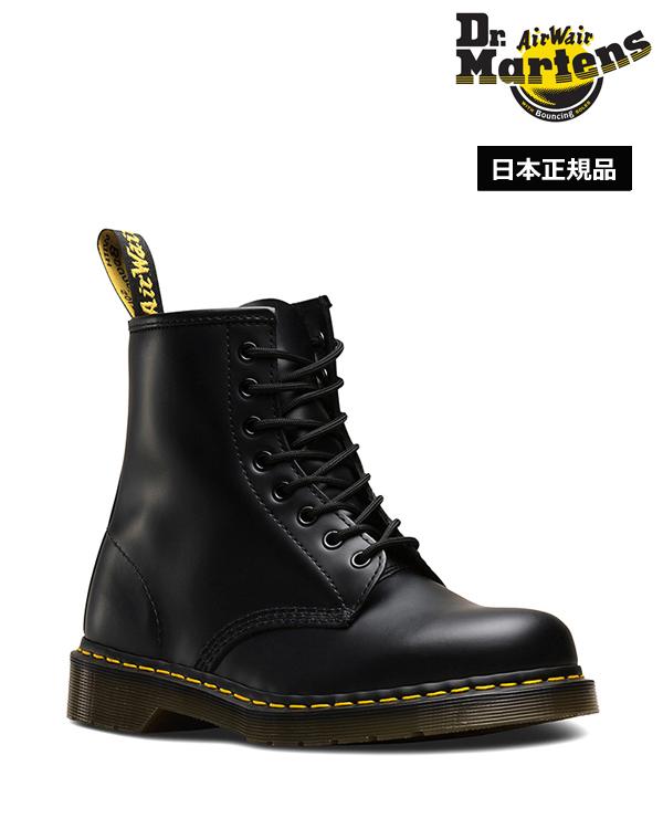 Dr.Martens Icons 1460 8 Eye Boot 10072004 Black Smooth ドクターマーチン 1460 8ホール ブーツ イエローステッチ メンズ レディース