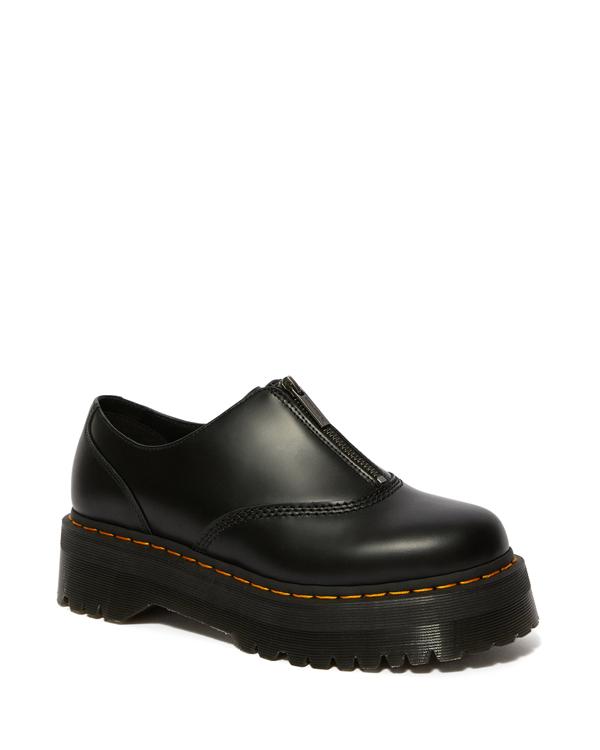 Dr.Martens Quad Retro Aurian II Quad Zip Shoe 25451001 Black ドクターマーチン オウリアン 2 クアッド ジップ シューズ 厚底 メンズ レディース
