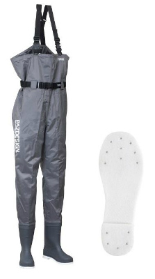 PazdesignブーツチェストハイウェーダーFS L グレー L[PPW-451 PVC BOOTS CHEST HIGHT WADER FS SOLE)] /メーカー[パズデザイン Pazdesign]