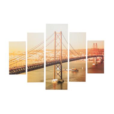 【お取り寄せ】AZUMAYA(東谷) アートパネル 5枚セット橋写真| ART-118A