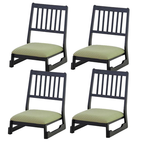 【お取り寄せ】東谷 重ねられる スタック 法事チェアロータイプ(椅子)お得な4脚セット| BC-1040FYE