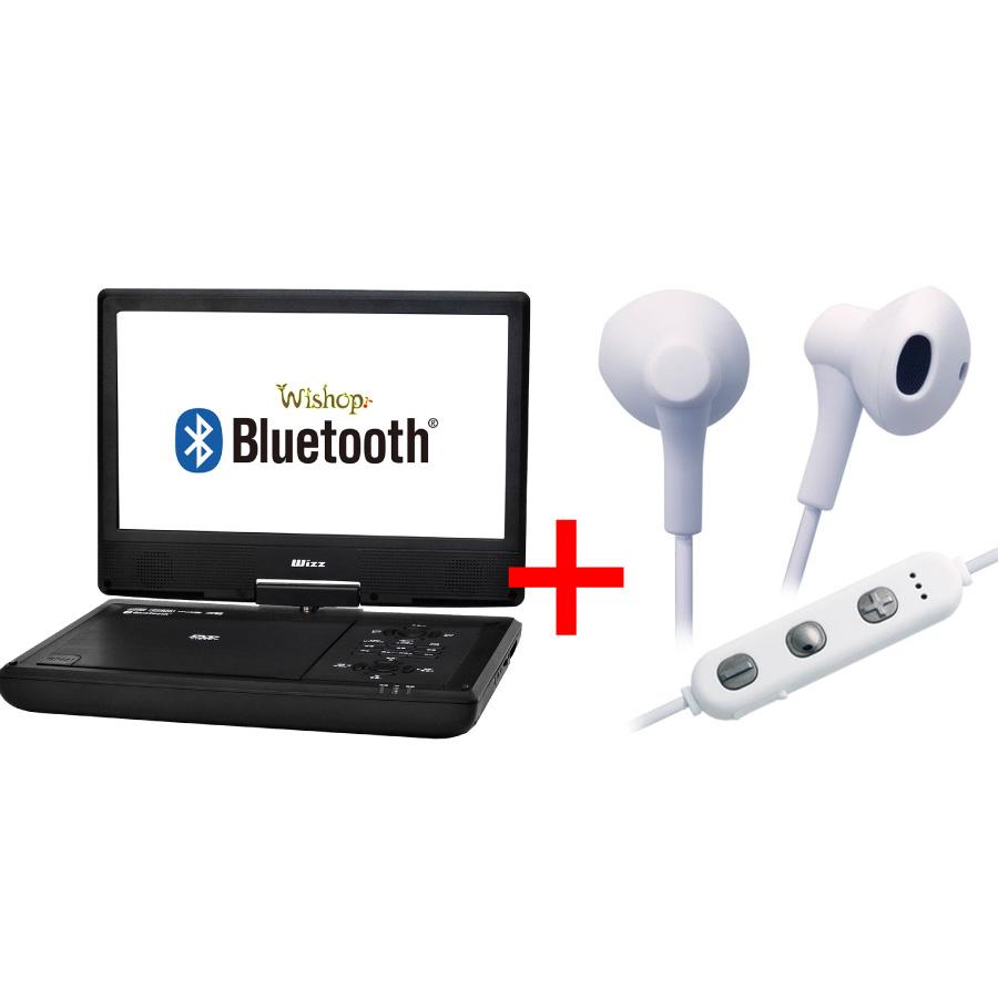 台数限定 Wizz ウィズ Bluetooth ブルートゥース 機能搭載 BTワイヤレスイヤホンセット 商舗 S1020BTE お中元 10インチポータブルDVDプレーヤーWPD-S1020