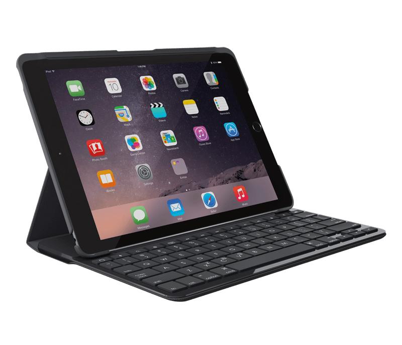 【お取り寄せ】logicool(ロジクール)SLIM FOLIO Bluetoothキーボード搭載ケース iPad(第5世代、2017年リリース)用 iK1052 Case with Integrated Bluetooth keyboard |IK1052BK