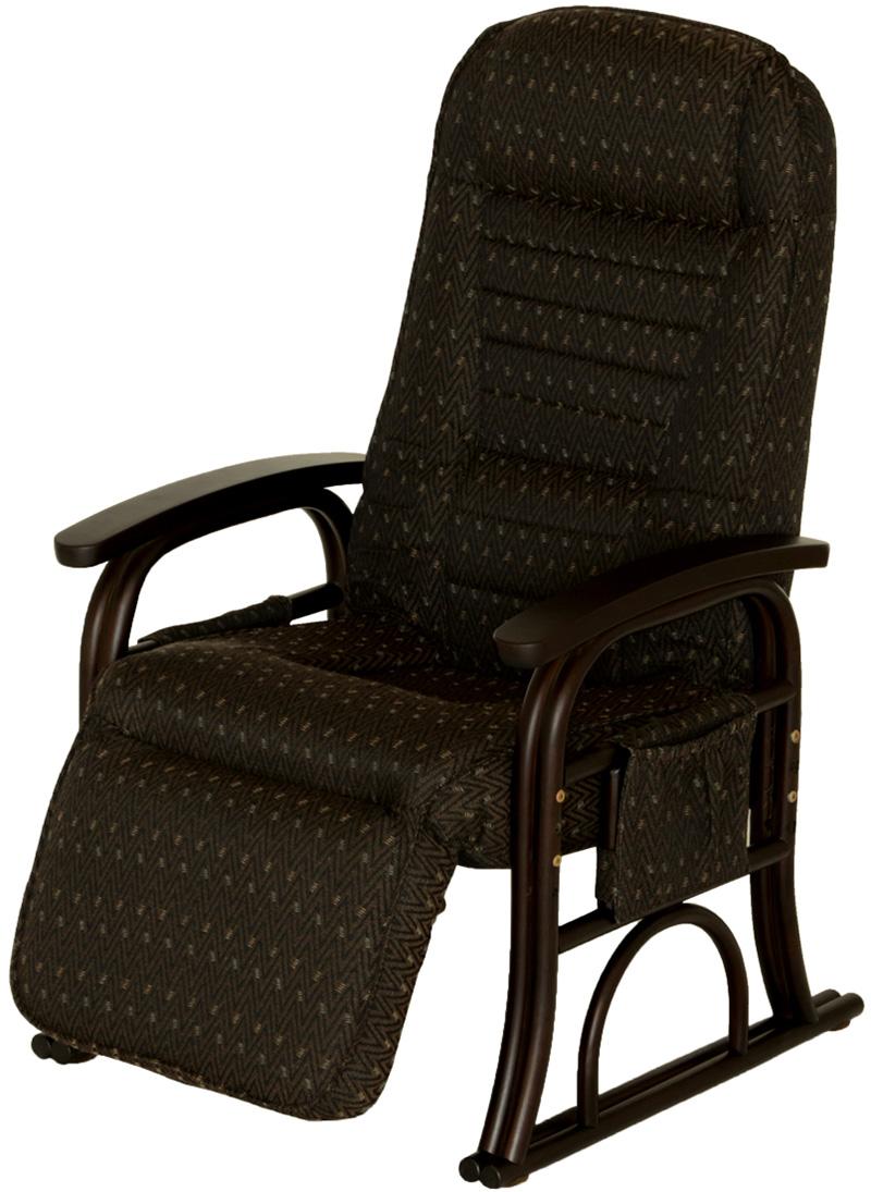 【お取り寄せ】ヤマソロ 【漣ーさざなみー】ラタンフットレスト付き高座椅子(BR)|83-934