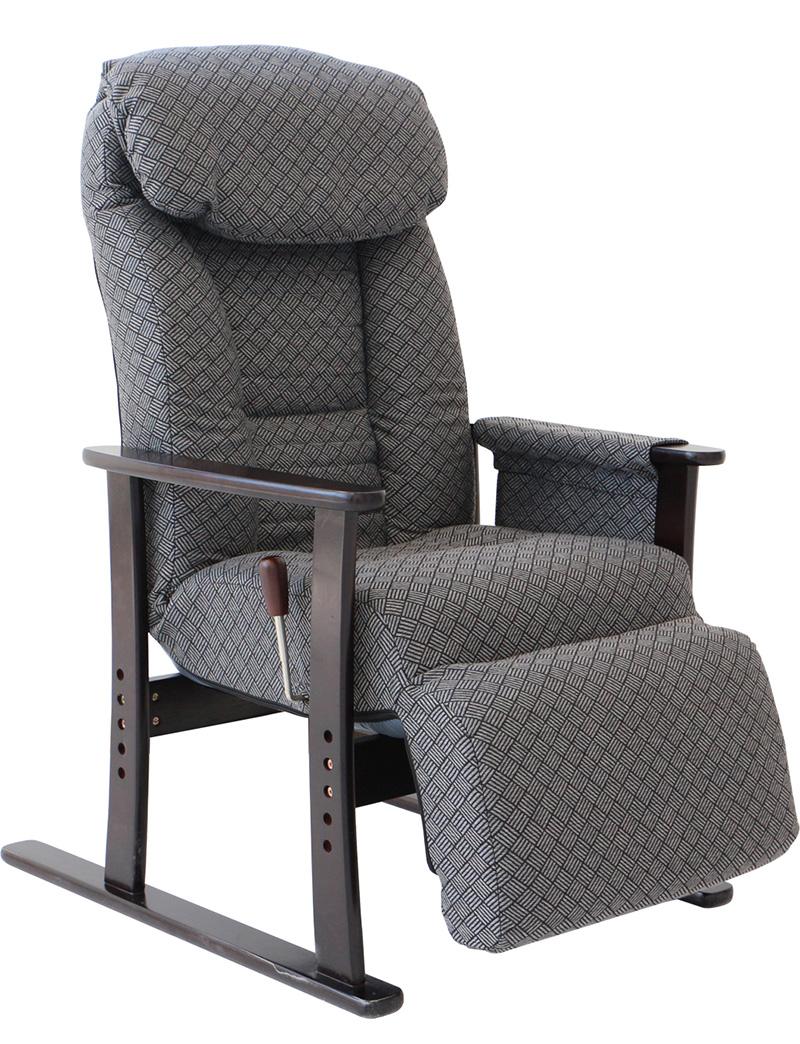 【お取り寄せ】ヤマソロ 【梢】フットレスト付高座椅子  GY|83-835
