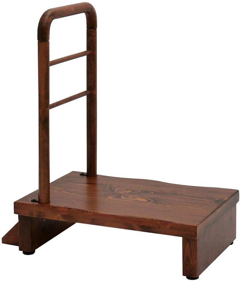 【お取り寄せ】ヤマソロ 手すり付きうづくり玄関台60幅|74-100