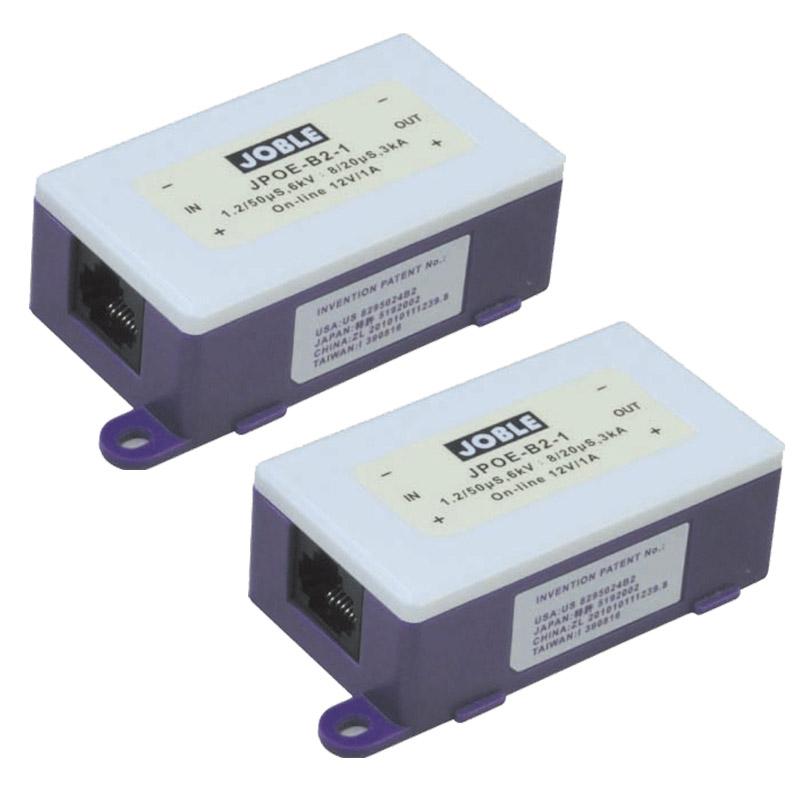 【お取り寄せ】JOBLE(ジョブル)PoE/PoE Puls対応 ネットワーク用サージプロテクター 2個セット JPOE-B2-1-2
