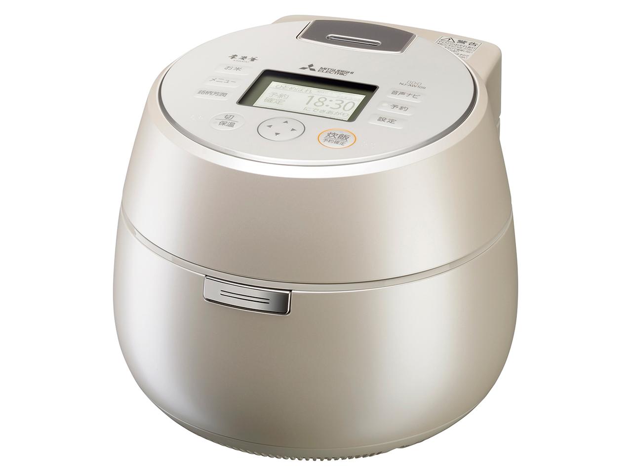 【お取り寄せ】三菱電機(Mitsubishi Electric)IHジャー炊飯器(5.5合炊き) 白和三盆|NJ-AW109-W