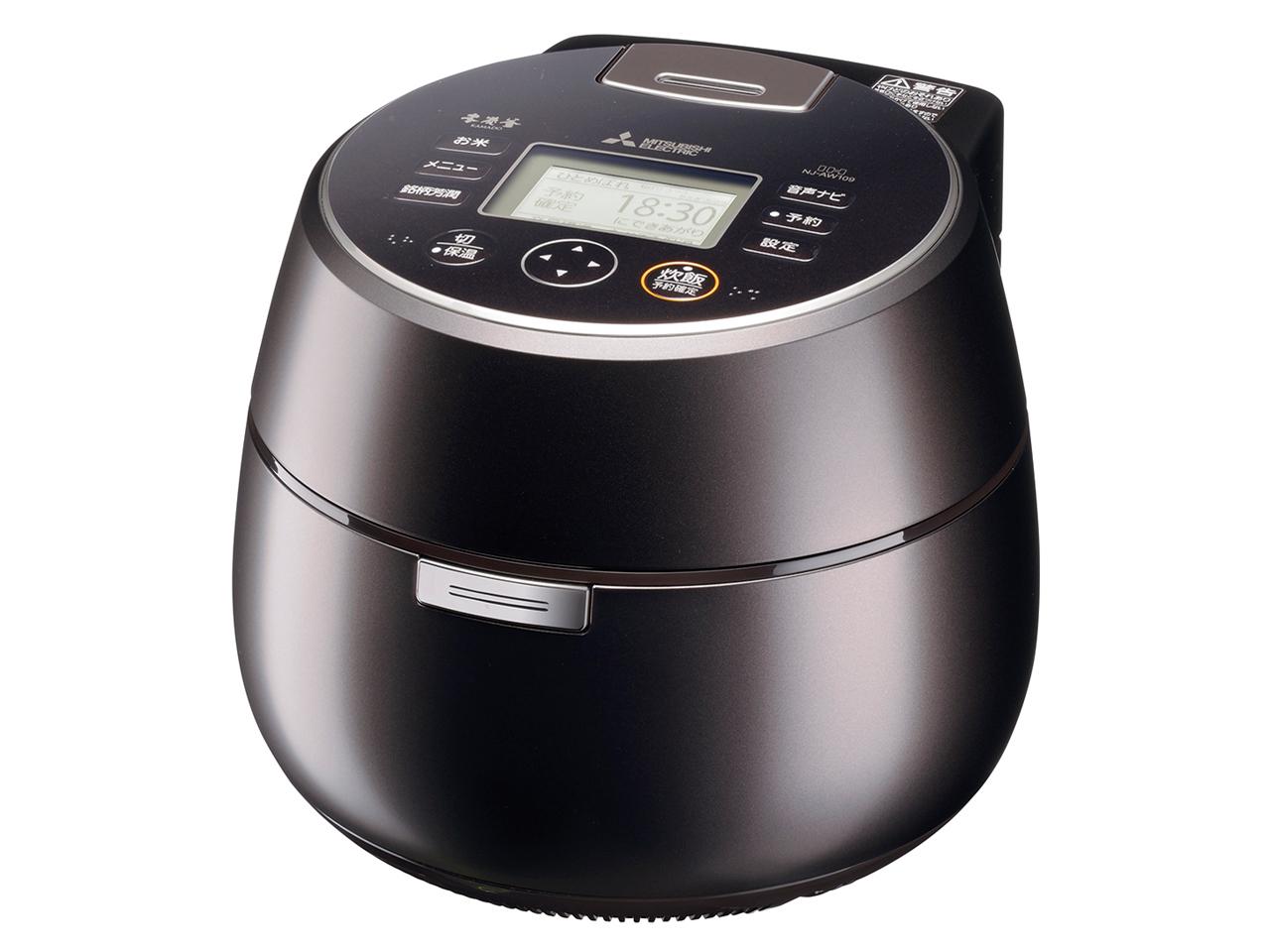 【お取り寄せ】三菱電機(Mitsubishi Electric)IHジャー炊飯器(5.5合炊き) 黒銀蒔|NJ-AW109-B