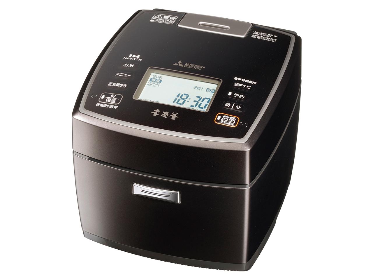 【お取り寄せ】三菱電機(Mitsubishi Electric)IHジャー炊飯器(5.5合炊き) 黒銀蒔 NJ-VW109-B