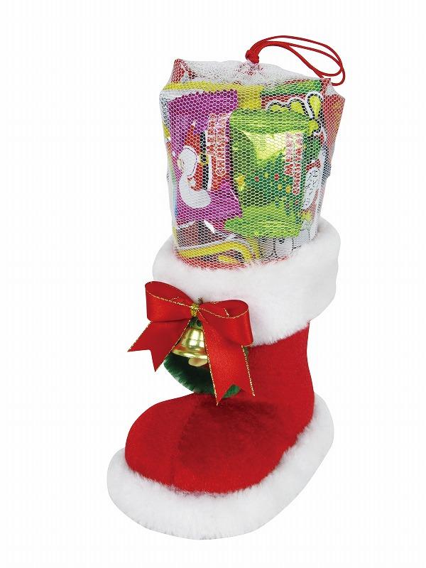 クリスマスブーツ(S) 72個セット @471/個  イベント 記念品 ギフト 景品 コンペ 雑貨 贈答 粗品タオル ノベルティ バラマキ 販促品 プレゼント 防災 特価 名入 のし 包装 最安 の当店へ