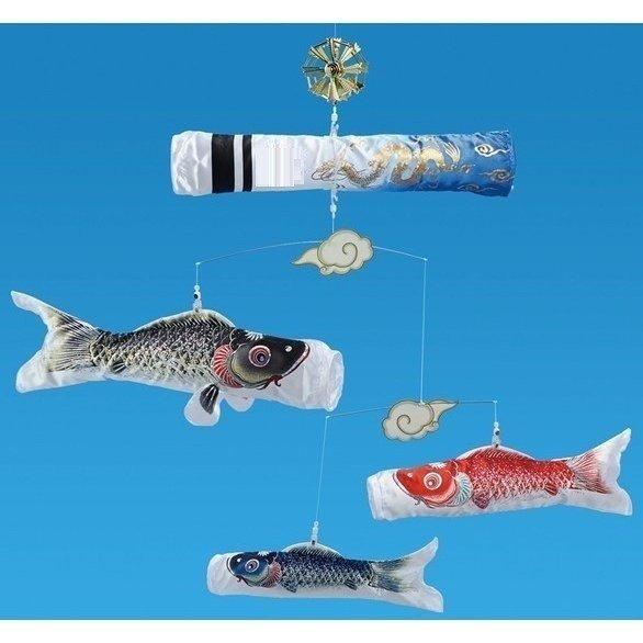 粋々モビール鯉物語60cm 銀鱗セット 天井吊下げタイプ
