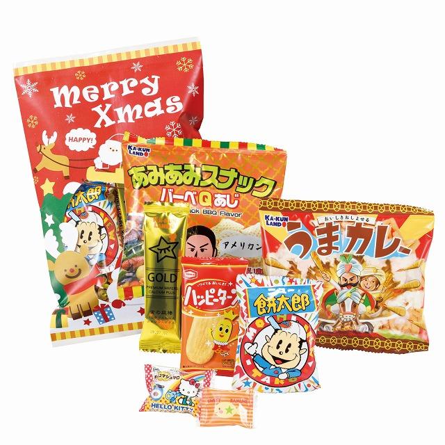 メリークリスマスお菓子7点セット  80個セット @213/個 ◆イベント・ギフト・景品・贈答品・粗品・ノベルティ・名入れ・のし包装は激安卸の当店へ
