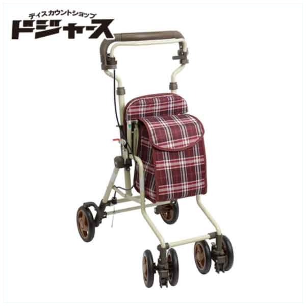 【島製作所】コンパクトシルバーカー【モート】(カラー:チェックエンジ) 手押し車