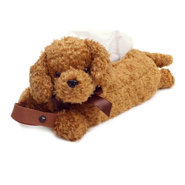 海外 車でもお部屋でも大活躍のティッシュカバー 卓抜 ぬいぐるみ型ティッシュボックスカバー トイプードル犬雑貨 犬グッズ