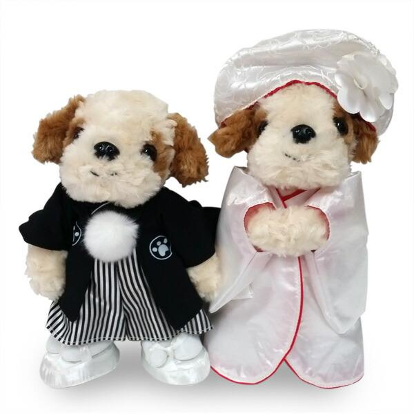 結婚式や記念日に犬のウェルカムドール 在庫限り 和装ウェディングドール シーズー ウェルカムドール プレゼント いぬ 新登場 供え 犬 犬雑貨