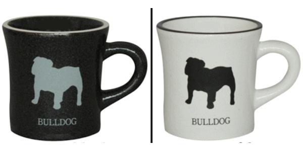 表面がマットな質感のマグカップです シンプルでかっこいいマグカップです 在庫限り 特価品コーナー☆ 販売期間 限定のお得なタイムセール モノクロ ブルドック犬雑貨 犬グッズ マグカップ