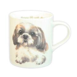 ご自分用でも もちろん 箱付きですので 豊富な品 希望者のみラッピング無料 わんこ好きなあの人にプレゼント わんコレ マグカップ シーズー犬雑貨 S4 犬グッズ