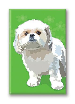 マグネットシリーズ【シーズー White】輸入雑貨 犬雑貨 犬グッズ