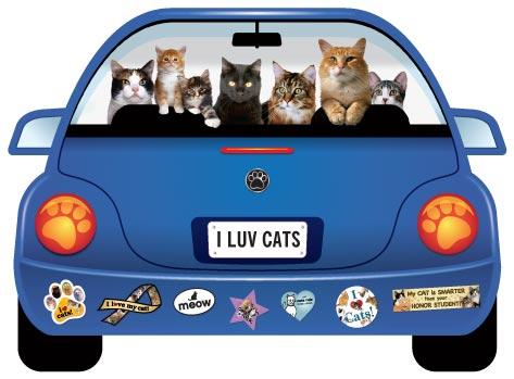 青のワーゲン形 Catブリードマグネット メール便5枚までOK パップモービル CATS 超美品再入荷品質至上 カーマグネット 猫雑貨 『4年保証』 猫グッズ