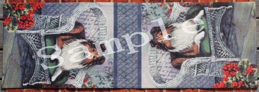 テーブルランナー 【シェットランド・シープドッグ/シェルティ】【Shetland Sheepdog Patio Jewel】輸入雑貨 犬雑貨 犬グッズ