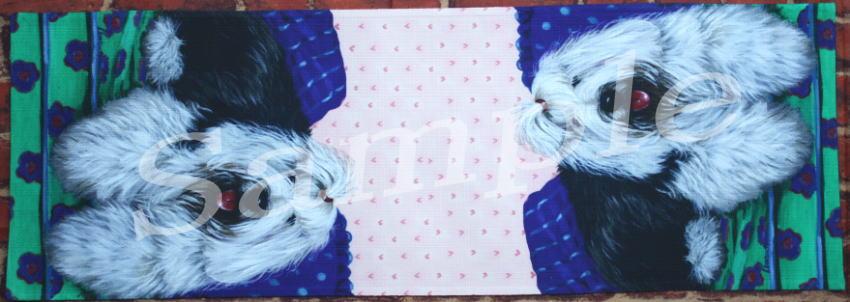 テーブルランナー 【オールド・イングリッシュ・シープドッグ】【Old English Sheepdog Lucy】輸入雑貨 犬雑貨 犬グッズ