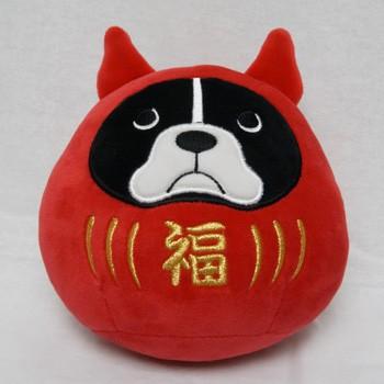 お部屋や車に もちふわクッション Sサイズ ブルトンダルマ 最安値 犬雑貨 再販ご予約限定送料無料 フレブル 犬グッズ フレンチブルドッグ