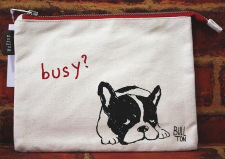 新品 送料無料 小物入れにぴったりポーチ メール便2個までOK 商品 フラットポーチ カマッテブルトン 犬雑貨 犬グッズ フレブル フレンチブルドッグ