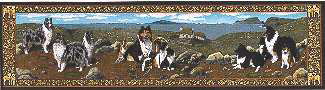 ゴブラン織り テーブルランナーシェットランド・シープドッグ/シェルティ輸入雑貨 犬雑貨 犬グッズ