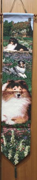 ゴブラン織り ベルプルシェットランド・シープドッグ/シェルティ輸入雑貨 犬雑貨 犬グッズ