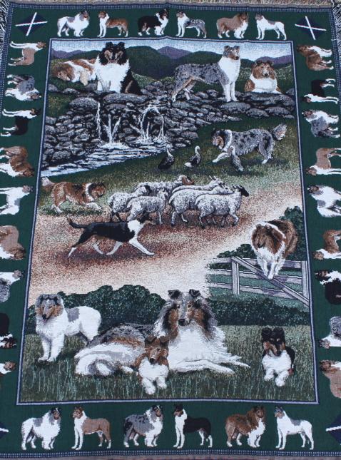 ゴブラン織り タペストリーコリー輸入雑貨 犬雑貨 犬グッズ