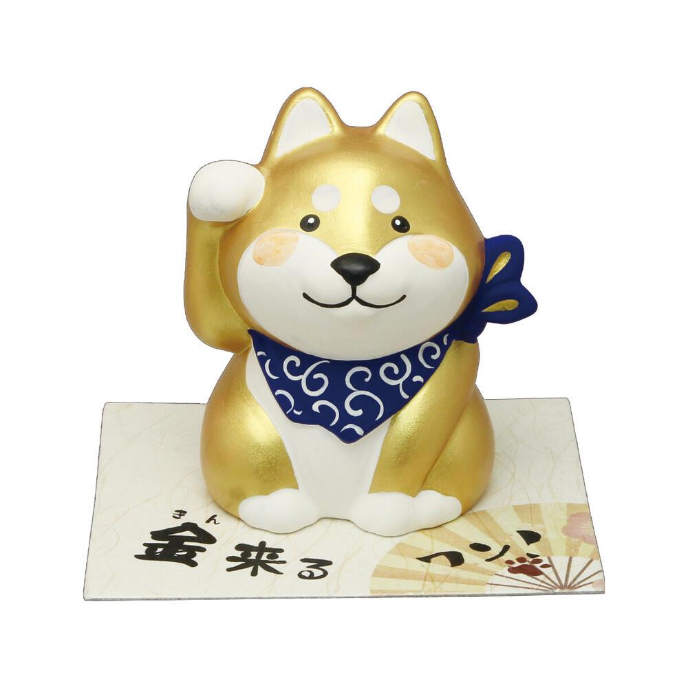 柴犬 金招き  【柴犬/シバ】置物 オブジェ 犬雑貨 犬グッズ