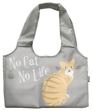 お買い物のお供に 毎週更新 レジかごバック チャトラ 100%品質保証 グレー ねこ 猫雑貨 ネコグッズ