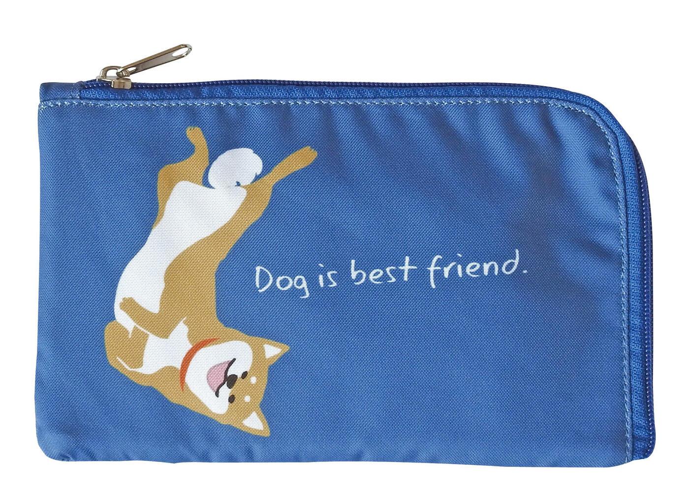 [並行輸入品] 柴犬柄のマスクポーチ メール便2個までOK マスクポーチ 柴犬 犬雑貨 ブルー 推奨 犬グッズ