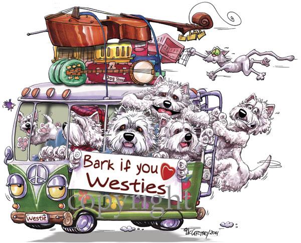 ウエスティで満員のワゴンデザインがキュートな輸入Tシャツ 在庫限り MCドッグワゴン Tシャツ 商舗 ウエスティ 輸入雑貨 犬雑貨 好評 犬グッズ