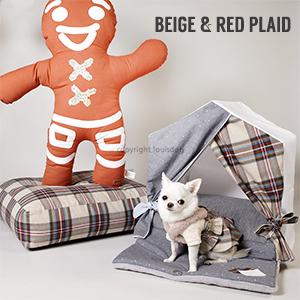 【LOUIS DOG(ルイドッグ/ルイスドッグ)】Peekaboo Egyptian Cotton Grand(ピーカブー/エジプシャンコットン /グランドサイズ)小型犬用組立ハウス【送料無料】