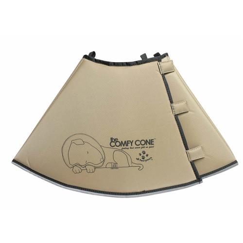 アメリカ直輸入・折り曲げて使用できる治療補助カラー THE COMFY CONE(コンフィーコーン)XL タン(ベージュ系)【送料無料】【RSL】