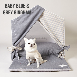 【LOUIS DOG(ルイドッグ/ルイスドッグ)】 【LOUIS DOG(ルイドッグ/ルイスドッグ)】Peekaboo Oxford Grey(ピーカブー オックスフォードグレー/プチサイズ)小型犬用組立ハウス【あす楽対応】【送料無料】