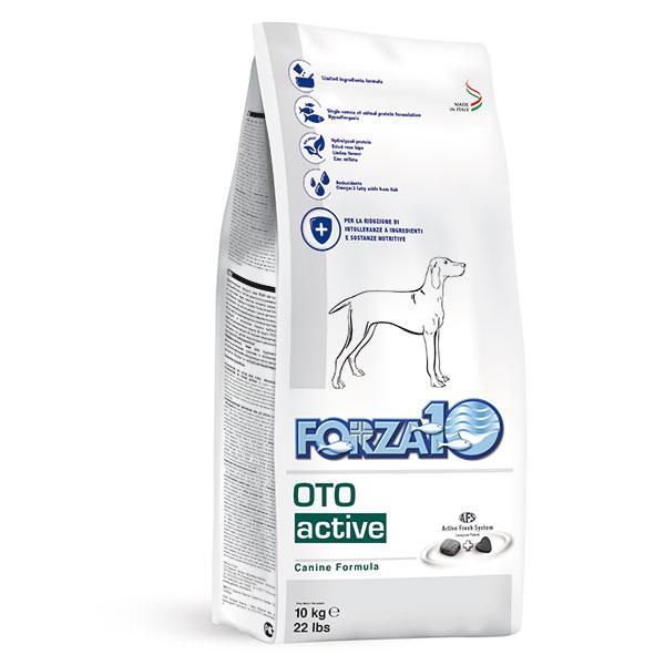 免疫の健康維持食事療法食シニア犬やアクティブシリーズ使用後の緩胃・腸の健康維持食事療法食アレルギー体質による胃腸の健康が気になる方に和状態の維持に 【送料無料】 フォルツァディエチ オト アクティブ 耳 療法食 10kg Oto Activeドッグフード FORZA10
