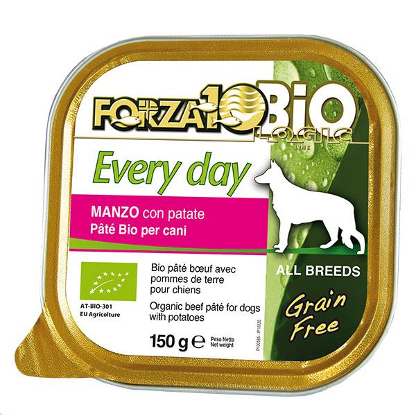 オーガニック フォルツァ10 あす楽対応 世界認証の100% オーガニック ミート 有機 食 フォルツア10 エブリディ ビオ ビーフ 1ケース 150g×12缶 Every day Bio beef ドッグフード FORZA10
