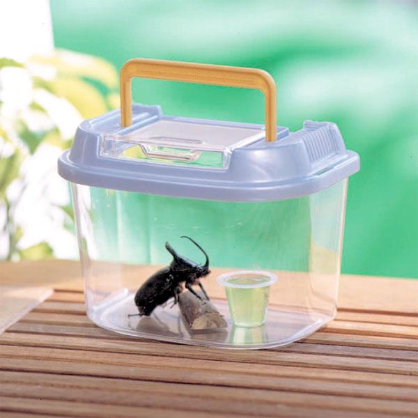昆虫の飼育にぴったり 売店 プラスチック製の飼育ケース 18%OFF 飼育ランドCY-SSパールブルーブラック虫かごむしかご虫籠虫入れカブトムシクワガタ昆虫採取夏休み自由研究飼育観察アイリスオーヤマPet館ペット館