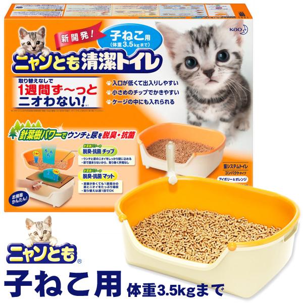 供花王喵喵干净的厕所安排小猫使用的[猫厕所、猫的厕所·猫的厕所·猫厕所、猫厕所]Pet馆宠物馆乐天