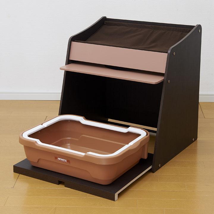 ネコレスト  ネコトイレ キャットハウス ペットベッド 猫トイレ ねこ ネコ 猫 ペット おしゃれ 目隠し カバー ボンビアルコン ブラウン・ナチュラル【D】