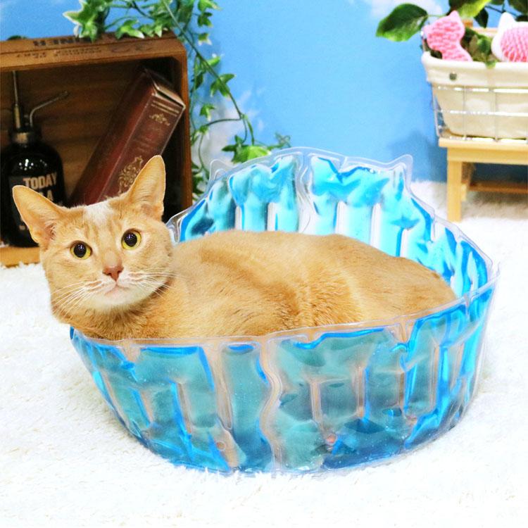 猫大満足 ひんやりジェルプール猫 マット ベッド ジェル 夏用 クール ひんやり ペット用品 ひんやりグッズ 暑さ対策