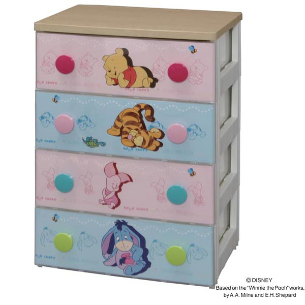 Cute Baby Pooh Design Front Abovementioned Extrusion Nee Is A Strike! 4 And  Type 5 Stage Type Prepared. Drawers Employ Metal Slide Rail Opens And  Closes ...